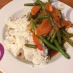Asia-Gemüse mit Reis