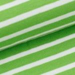 Streifen: Kiwi/Weiß - 95 % Bio-Baumwolle, 5 % Elasthan