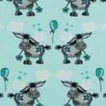 Donkey Lou - türkis - 95 % Bio-Baumwolle, 5 % Elasthan